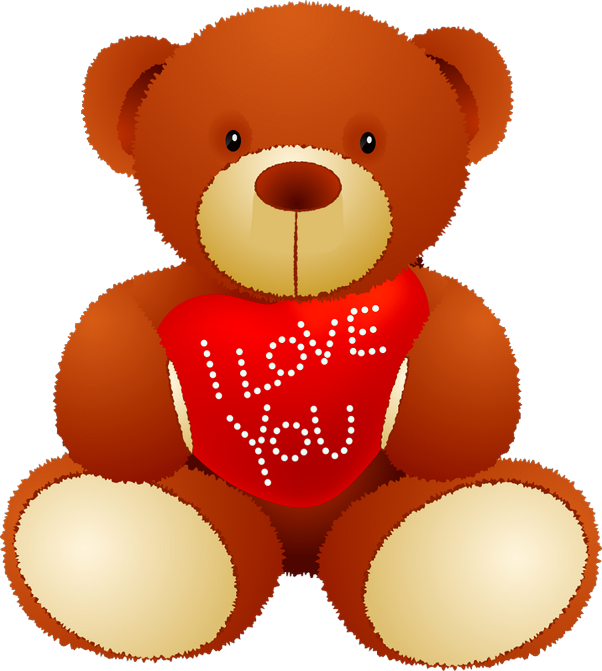 Valentine teddy bear png. I love you picture