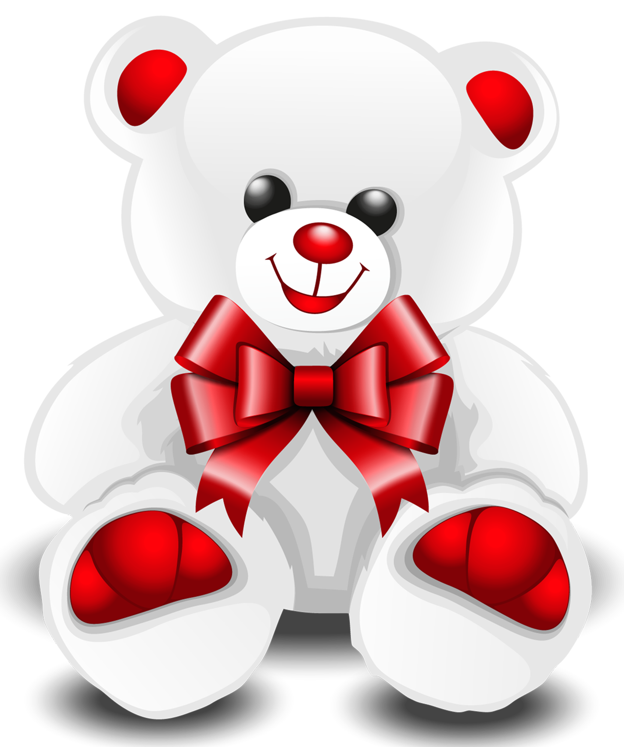 Valentine teddy bear png. White clipart picture gallery