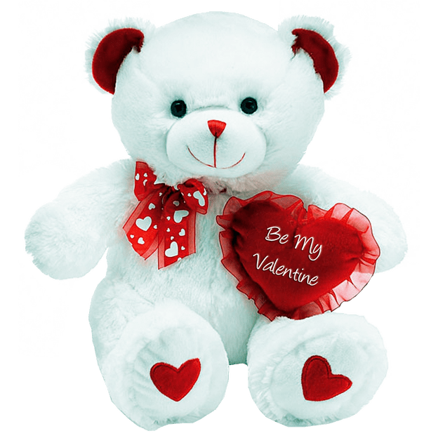 Valentine teddy bear png. Transparent background image