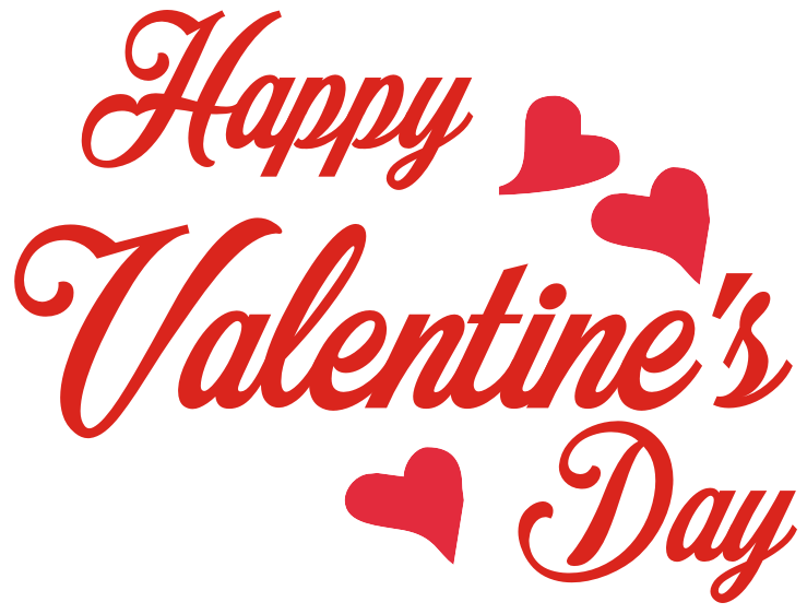 Valentine s images transparent. Valentines day clip art png banner black and white
