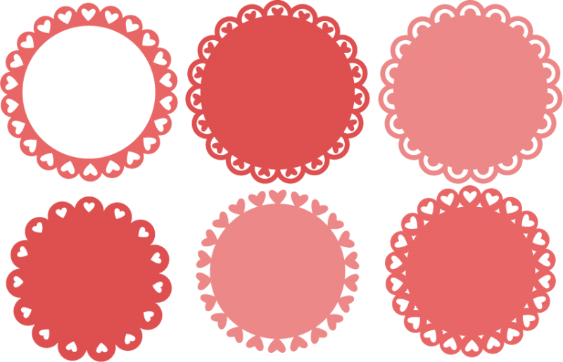 Valentine border png. Heart backgrounds svg cutting