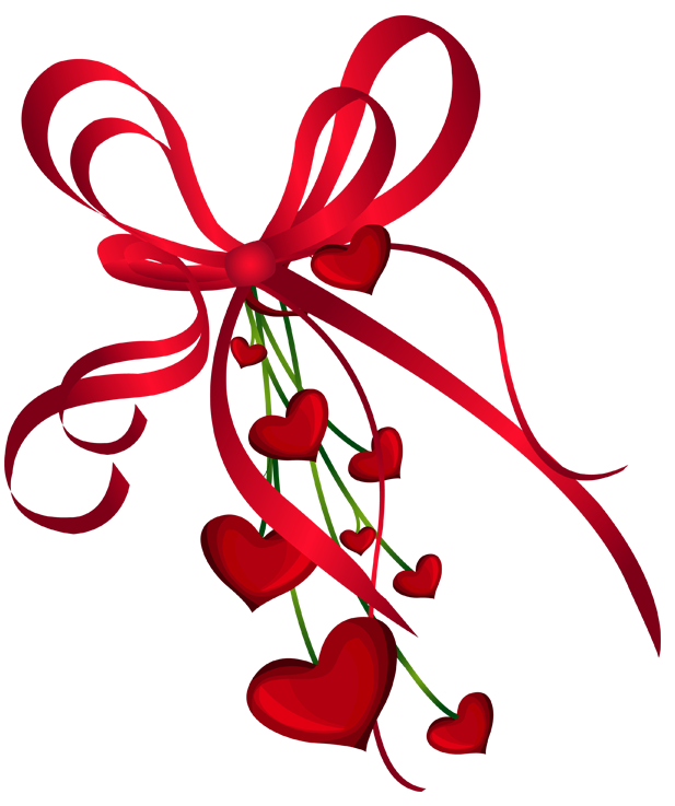 Valentines clipart png. Day hearts decor with