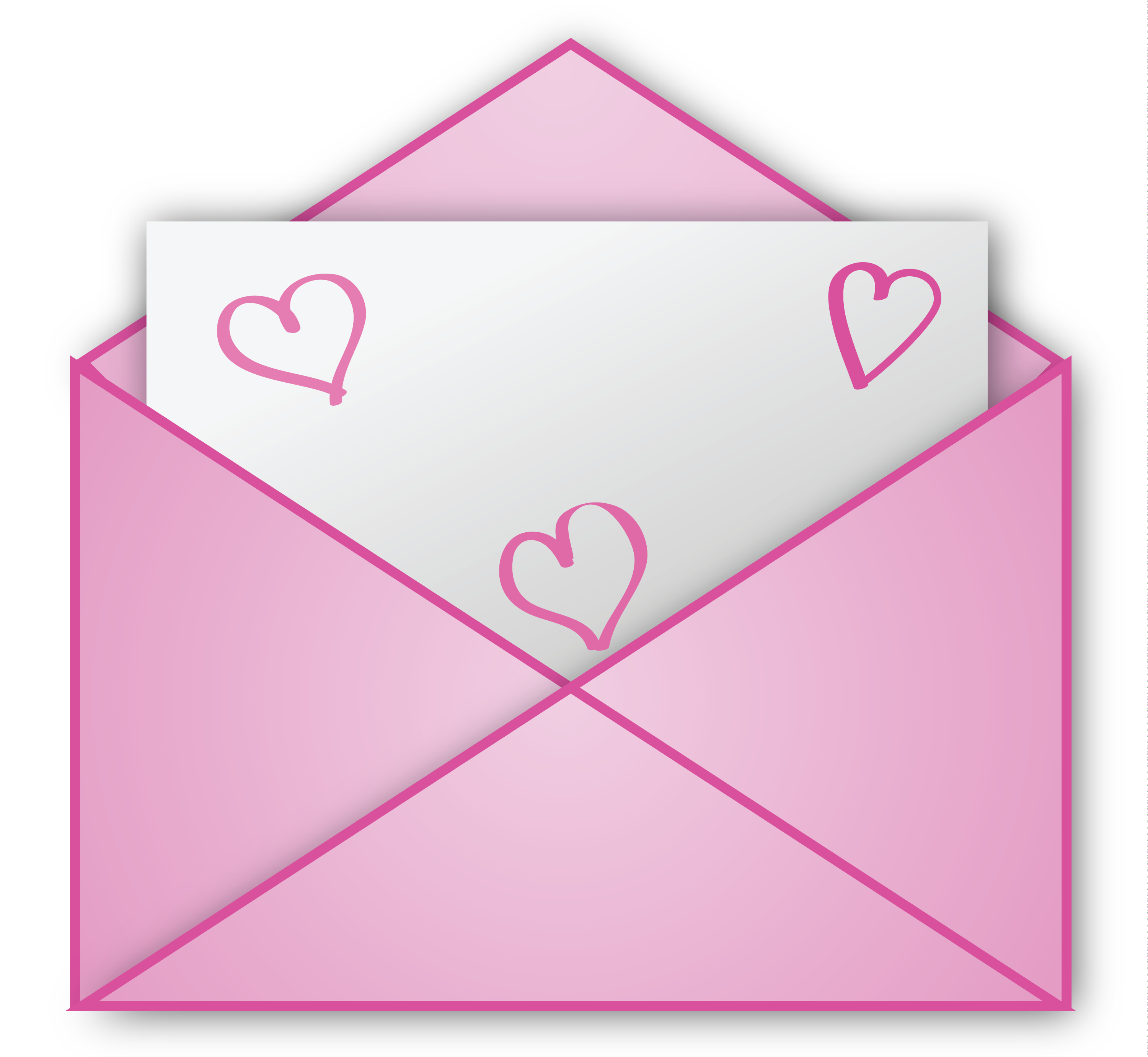 Png letter. Valentine pink clipart picture
