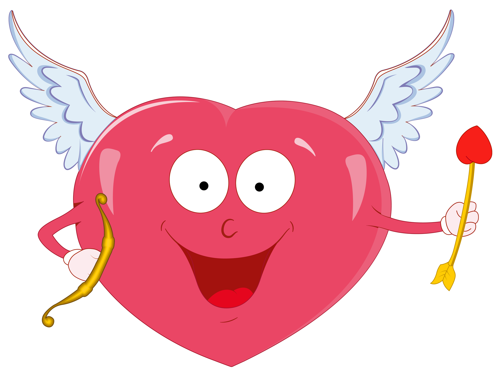 Valentines cupid png. Valentine heart with bow
