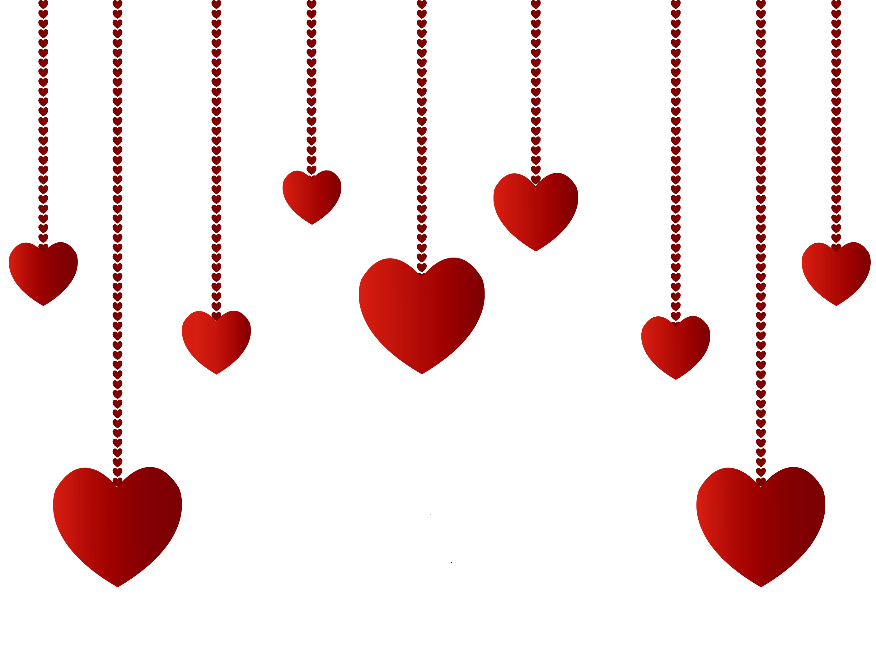Valentine decorations png. Hanging hearts decoration picture