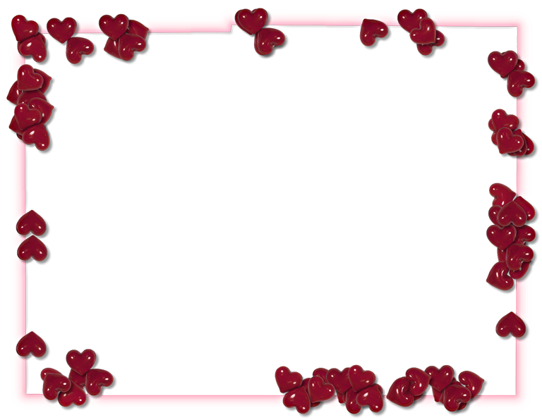 Valentines day border png. Transparent image arts