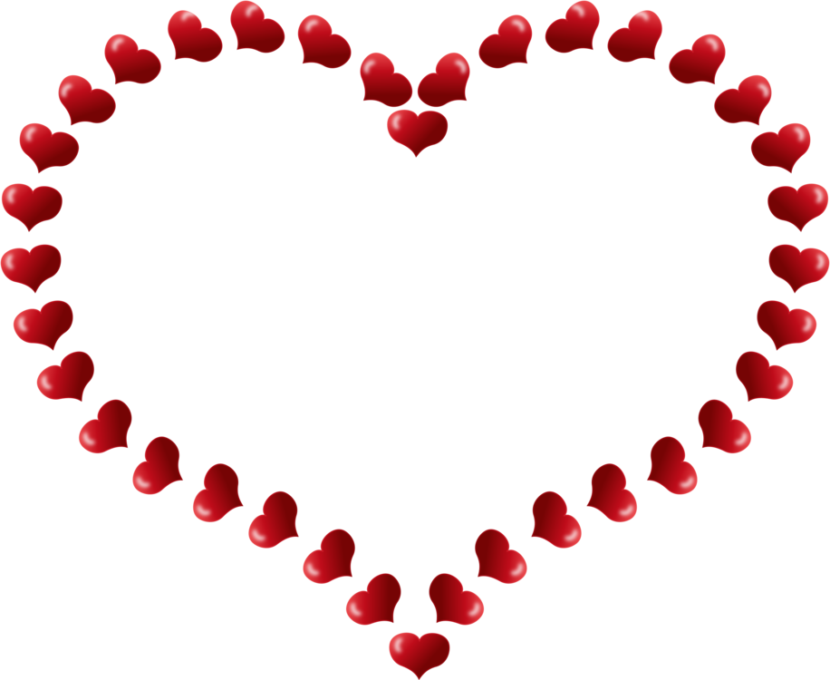 Valentines day border png. Heart shape valentine s