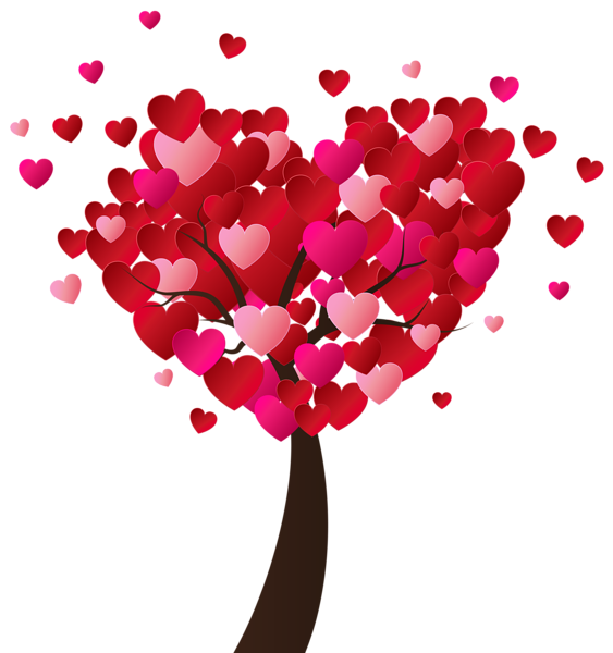 Valentine s heart tree. Valentines day clip art png vector