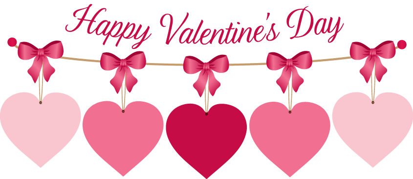 Valentine banner png. Valentines day clipart for