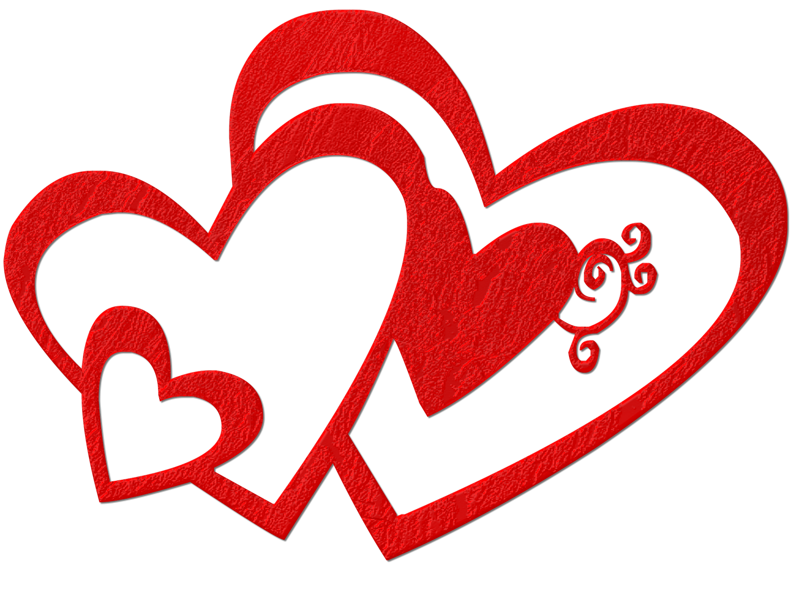 Valentines day clipart png. Double hearts