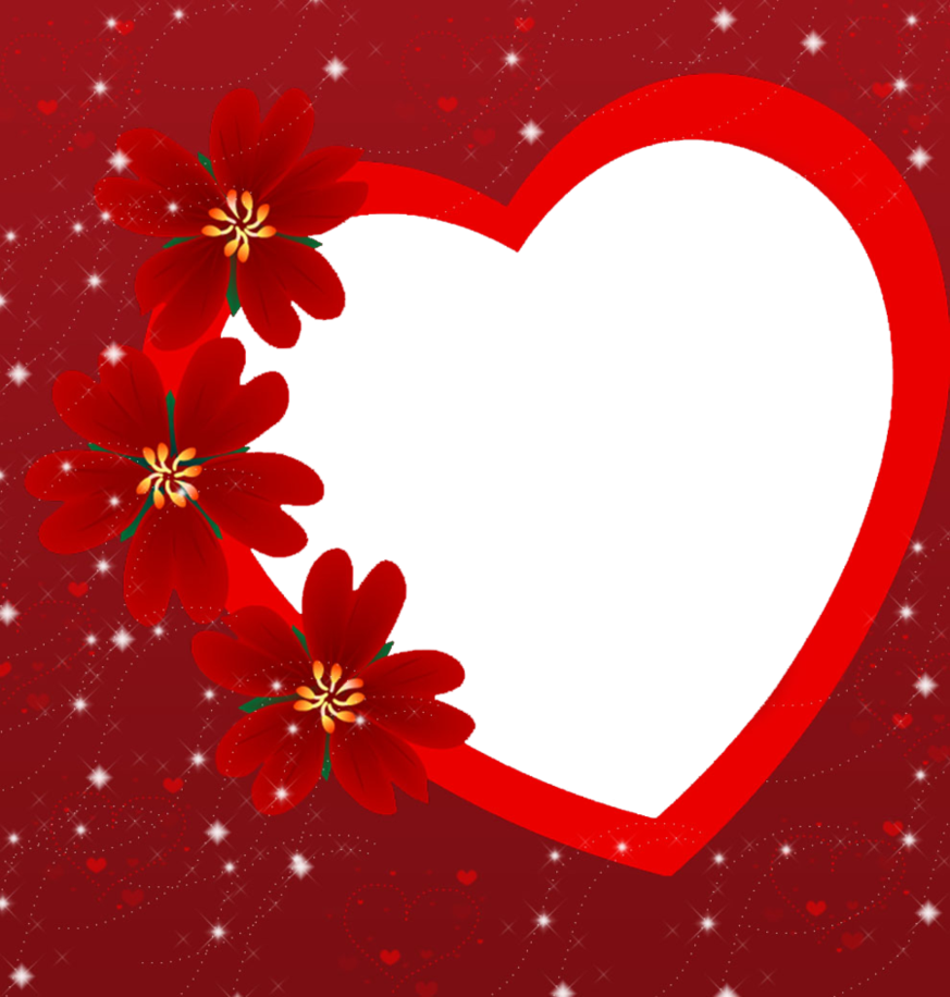 Valentines frame png. Day heart photo arts