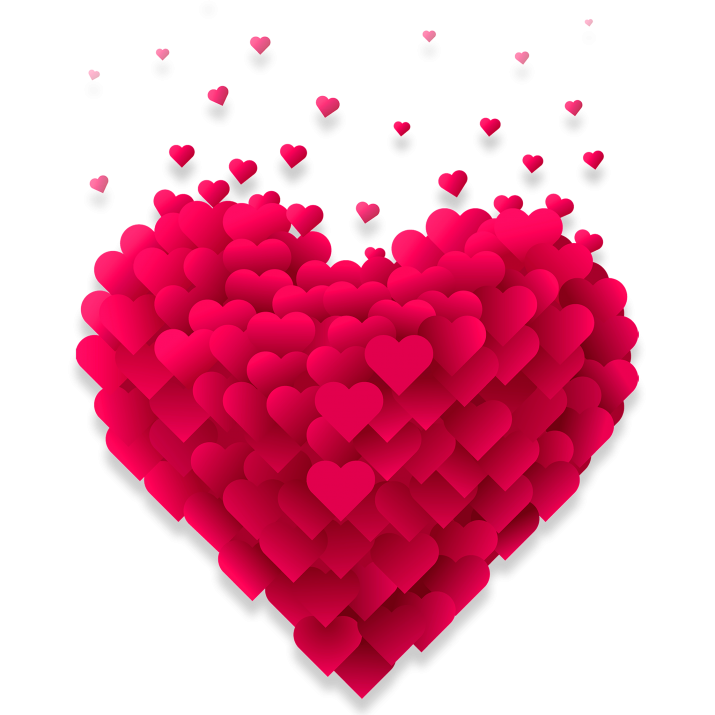 Background free download searchpng. Valentines day heart png clipart black and white