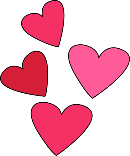 Valentines day hearts png.