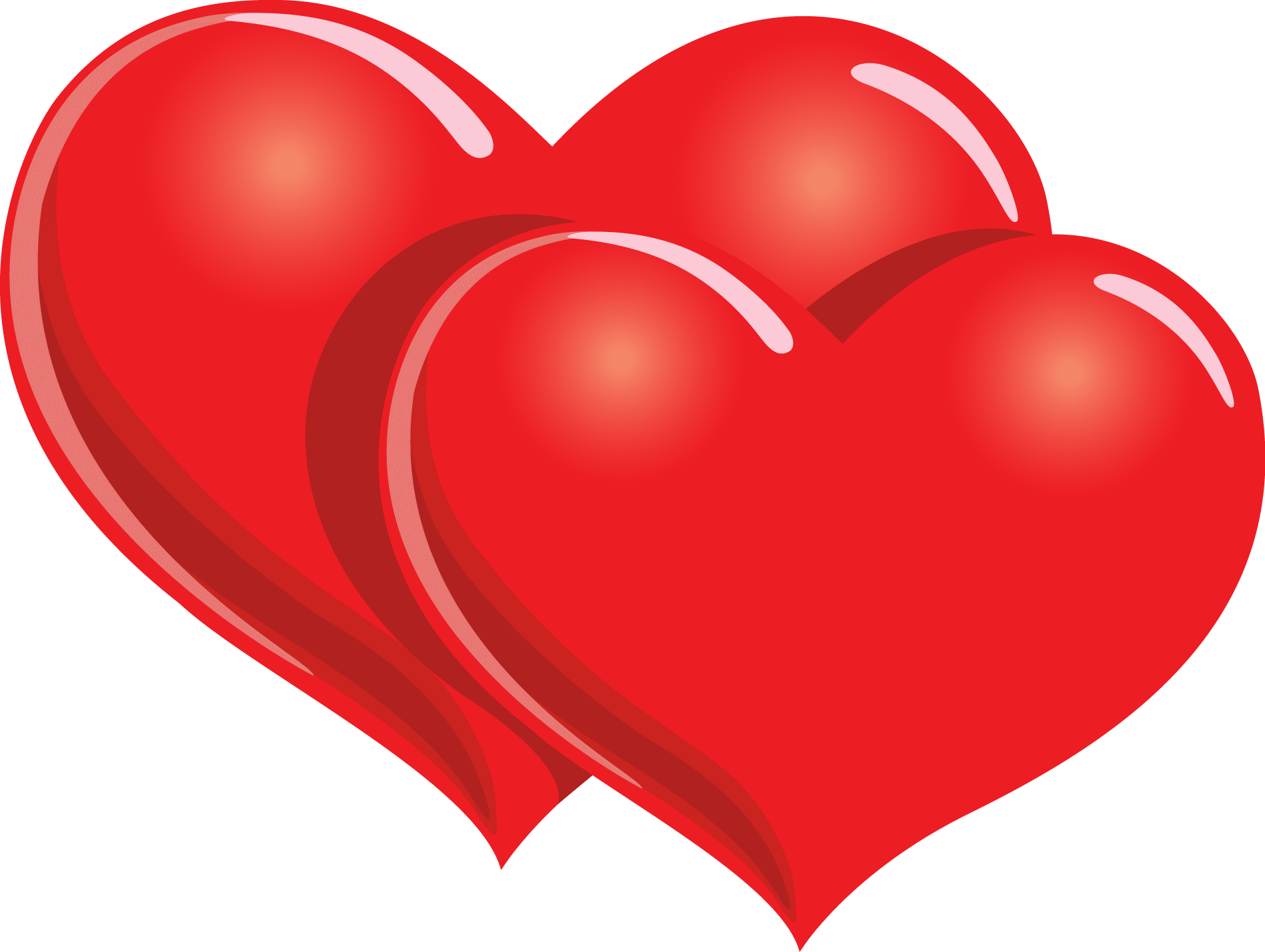 Valentines day heart png. Happy two hearts transparent