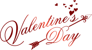 Valentine png logo. Romantic day vector eps