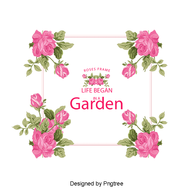 Valentines flower angels frame png. Valentine s day card