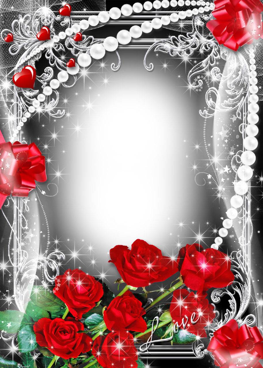 Valentines flower angels frame png. Photo romantic rose frames