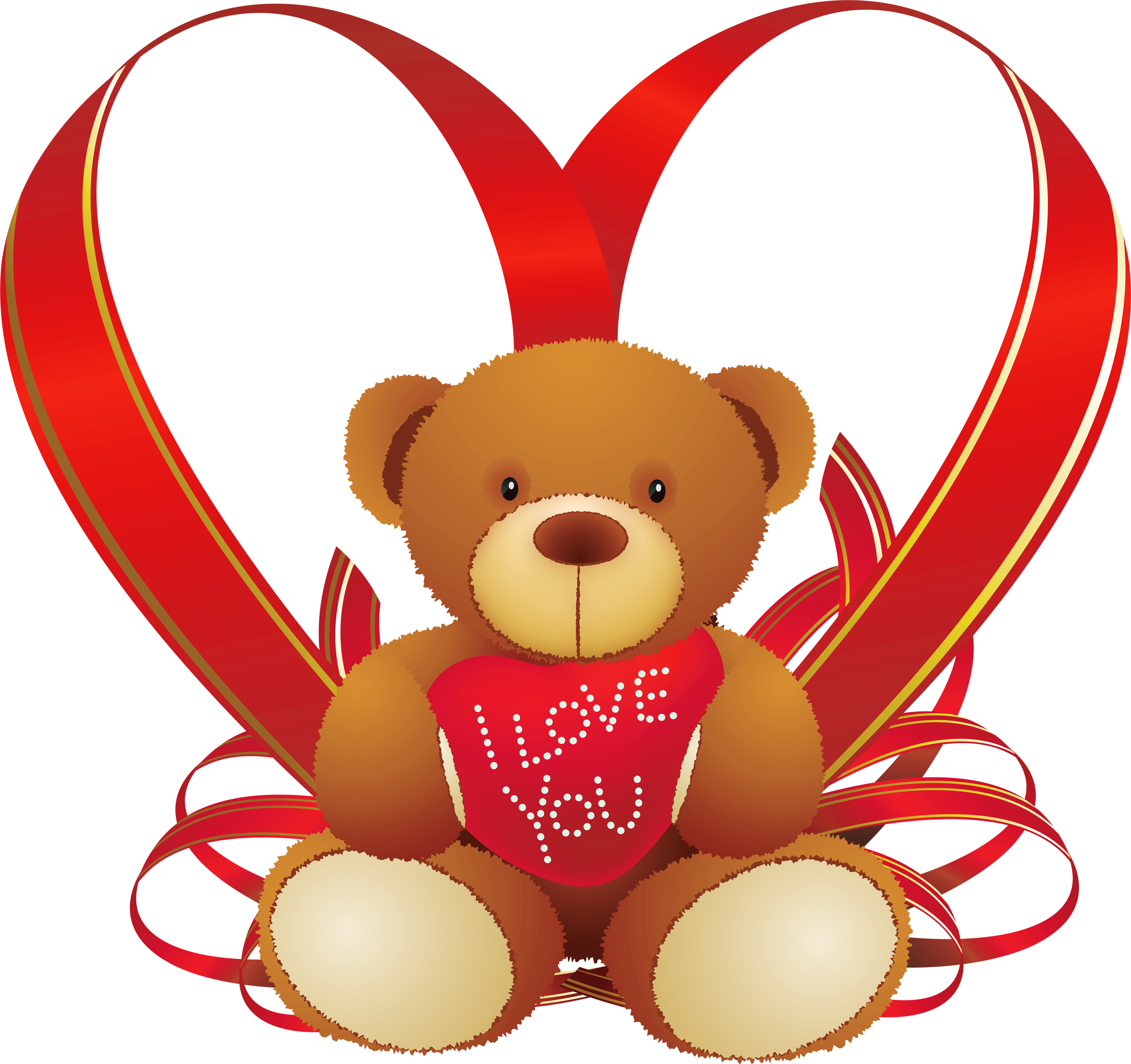 Valentines teddy bear png. Red heart with clipart