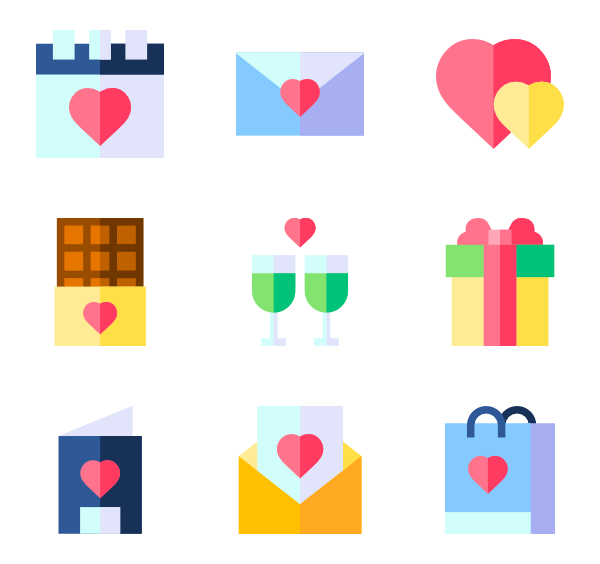 Healthy vector realistic. Valentines icons free day