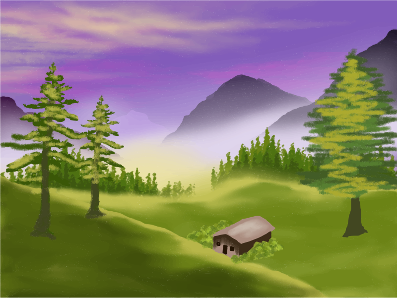 valley clipart hill station