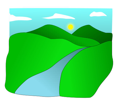 Valley clipart sketch. Drawing at getdrawings com