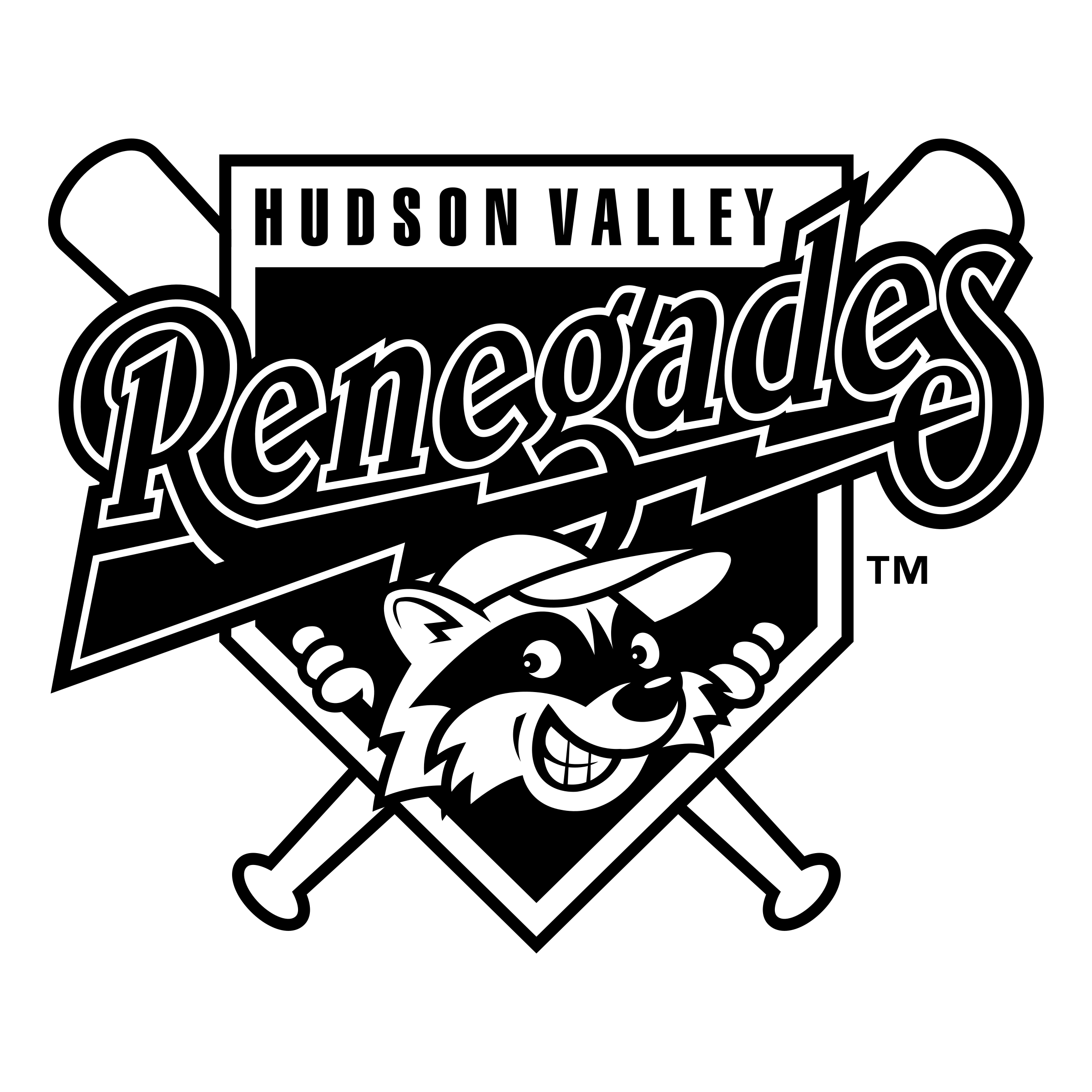 Valley vector black and white. Hudson renegades logo png