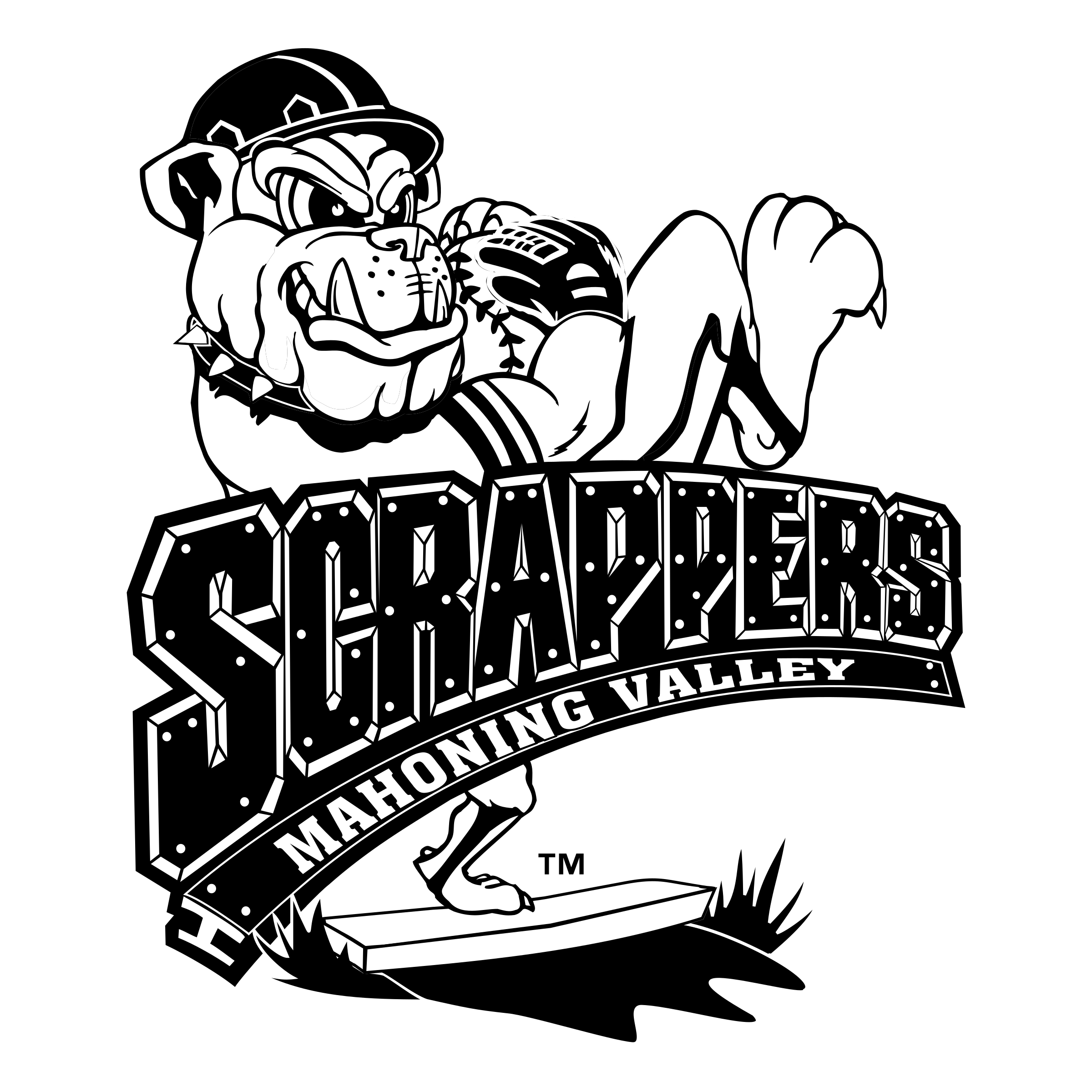 Valley vector black and white. Mahoning scrappers logo png