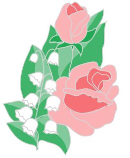 Valley vector clipart. Free flower roses lilies