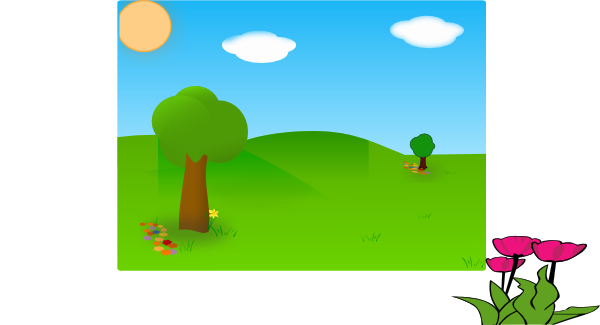 Valley vector forest. Clip art at clker