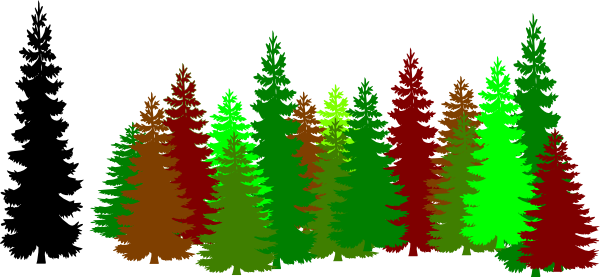 Valley vector forest. Trees clipart panda free