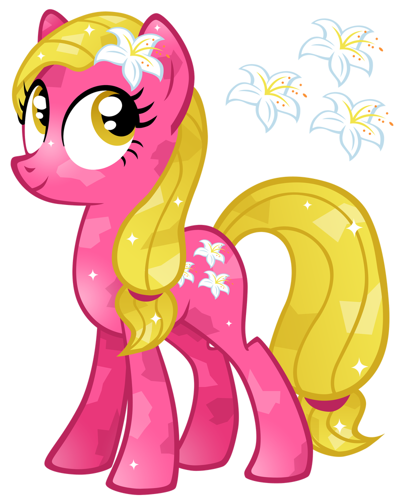 Valley vector lily. Crystal by cloudyglow on