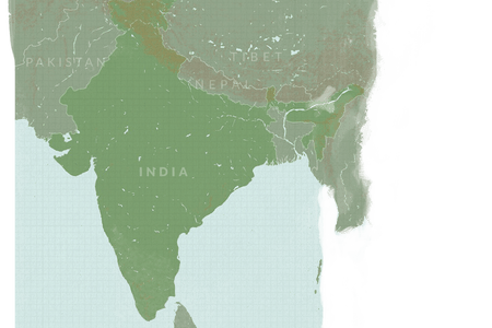 Valley vector river ganga. Map of ancient india