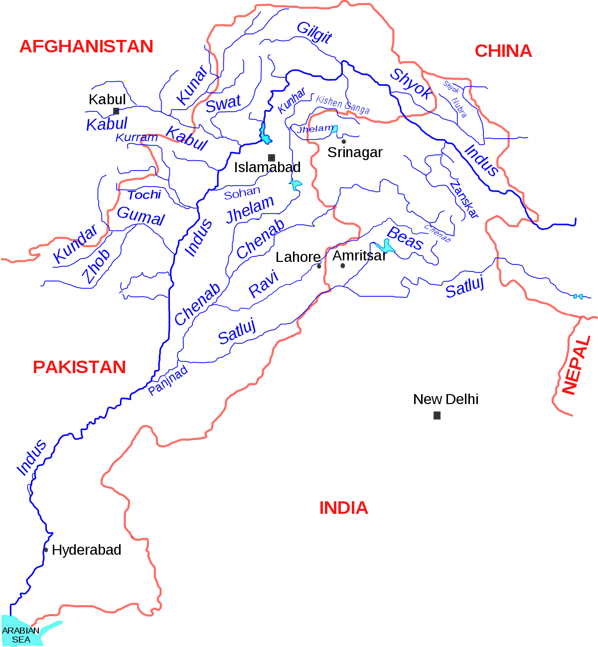 Indira gandhi canal wikipedia. Valley vector river ganga clipart free library