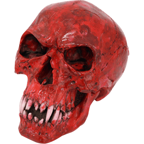 Vampire skull png. Blood red cc by