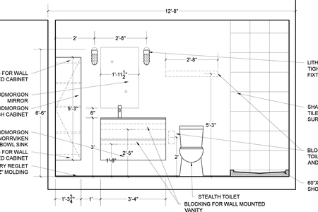 Vanity drawing ada. Architectural home plans designed