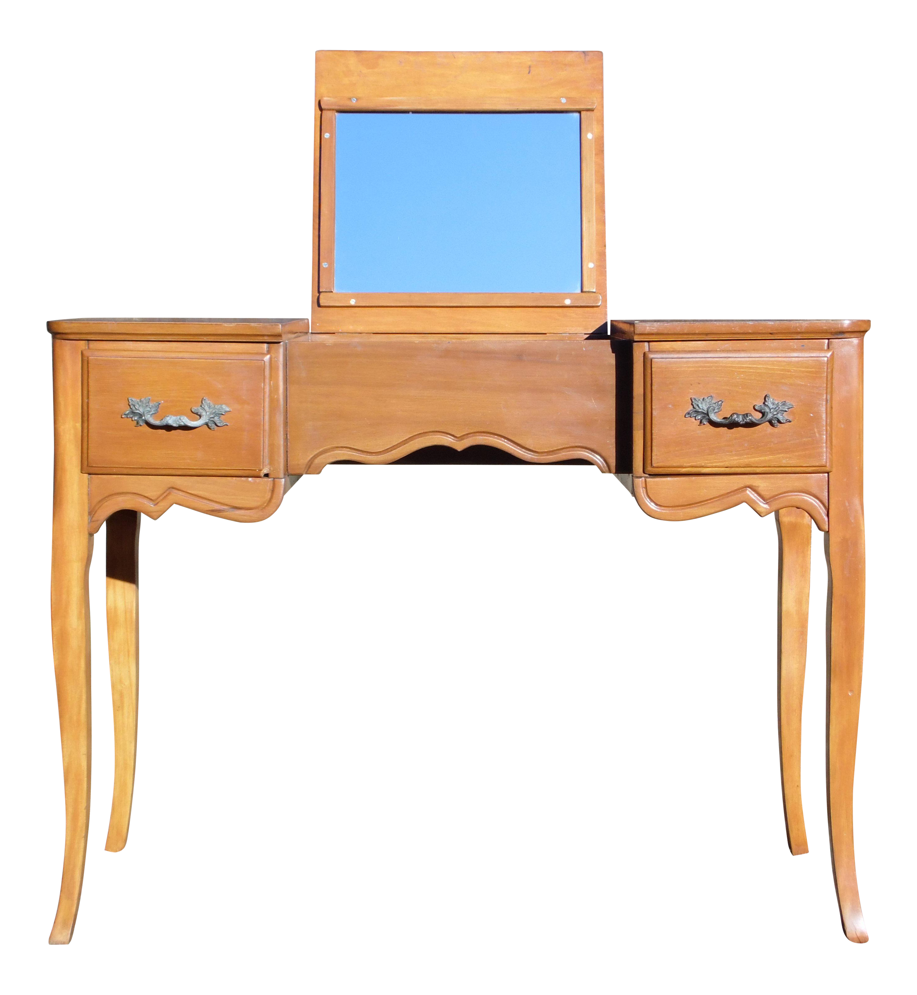 Vanity drawing dressing table. Vintage french provincial style