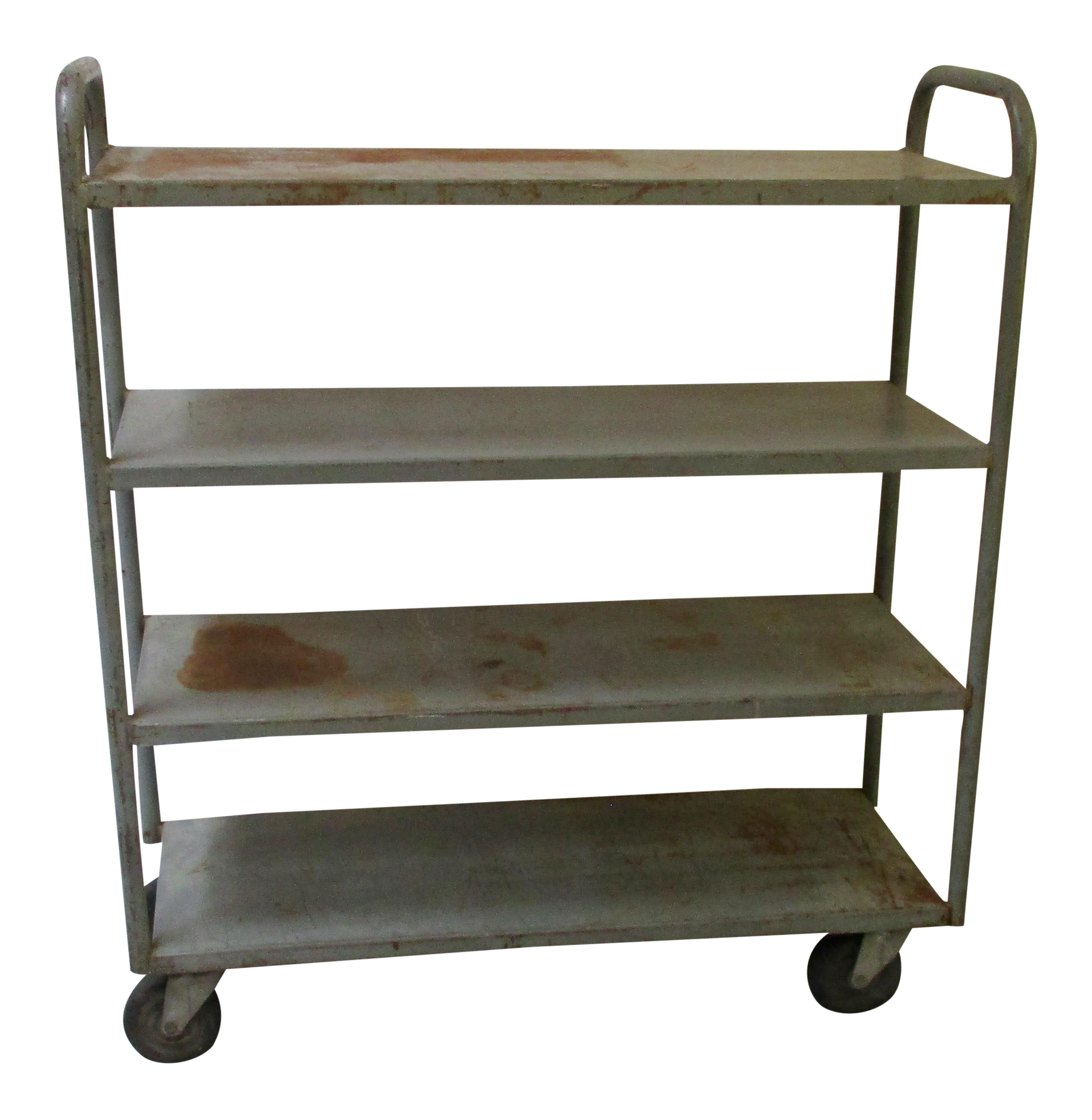 Vanity drawing kitchen trolley. Industrial machine age rolling