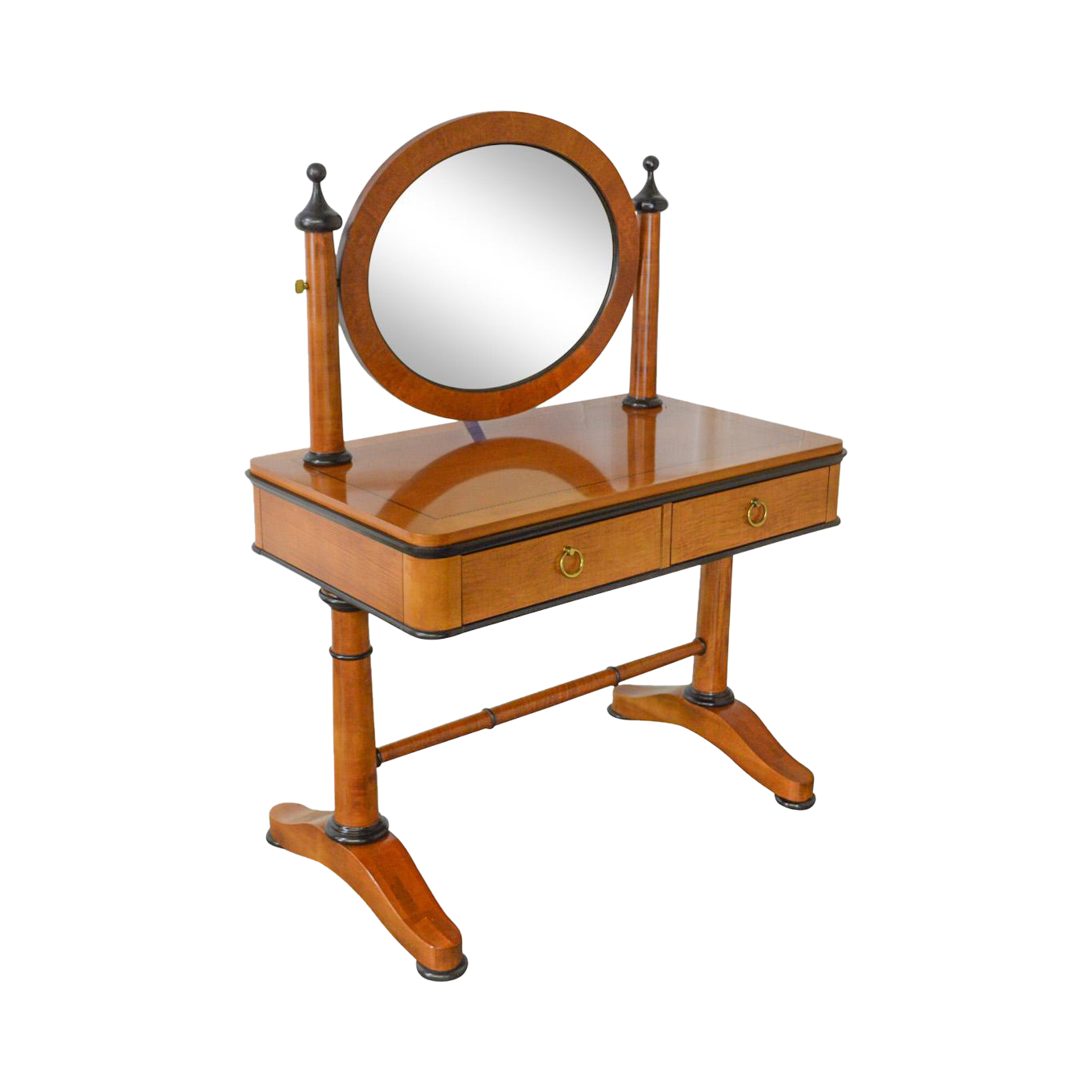 Vanity drawing makeup table. Biedermeier style dressing w