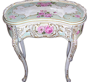 Vanity drawing shabby chic. Romantic one of a