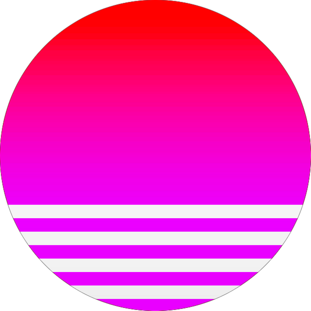 Vaporwave background png. Ftestickers circle sun geometric
