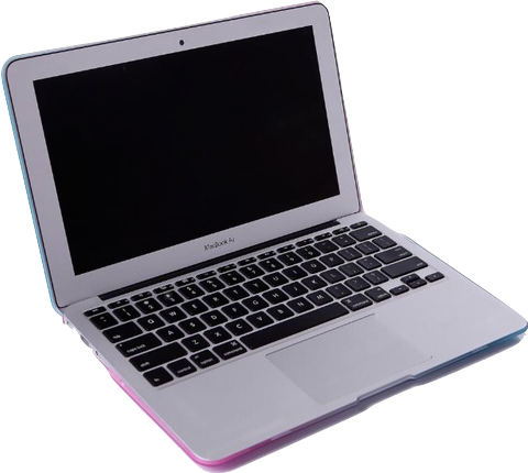 Vaporwave computer png. Aesthetic laptop holographic tumblr