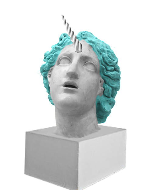 Vaporwave images statue png. Image about blue in