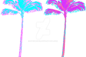 Vaporwave palm tree png. Image related wallpapers
