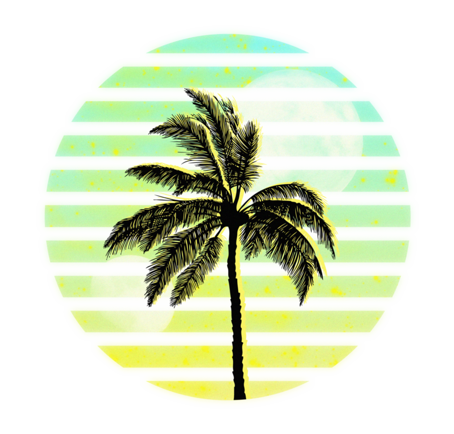 Vaporwave palm trees png. Palmier by maximehector on