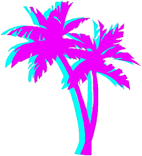 Vaporwave vector transparent. Collection of free aesthesis