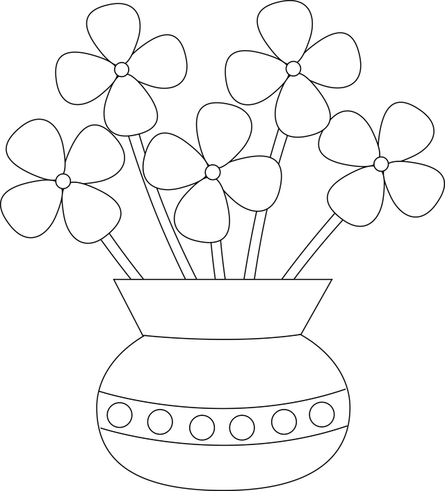 Vase clipart drawn flower. How to draw flowers
