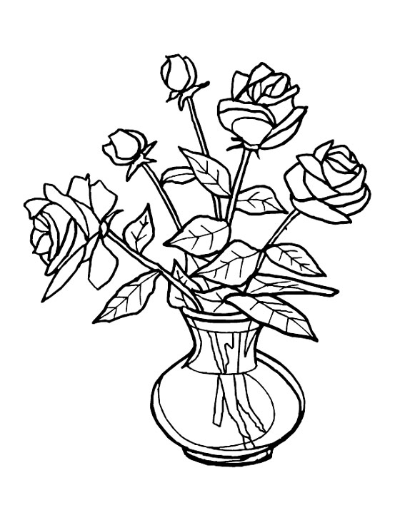 Vase clipart drawn flower. Free drawing of flowers