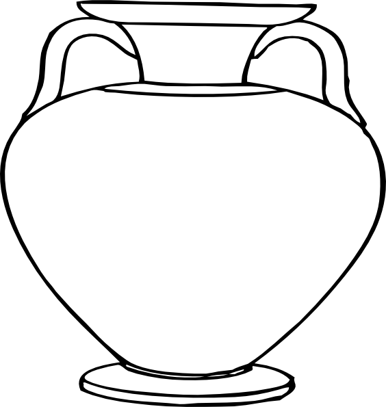 Vase clipart printable. Flower outlines for coloring