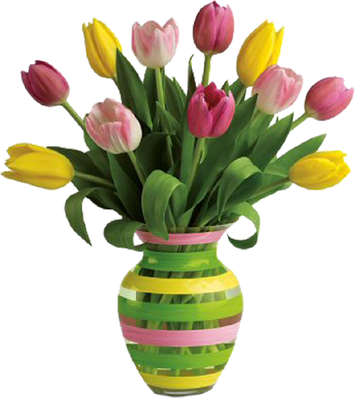 Vase of flowers png. Transparent images all high
