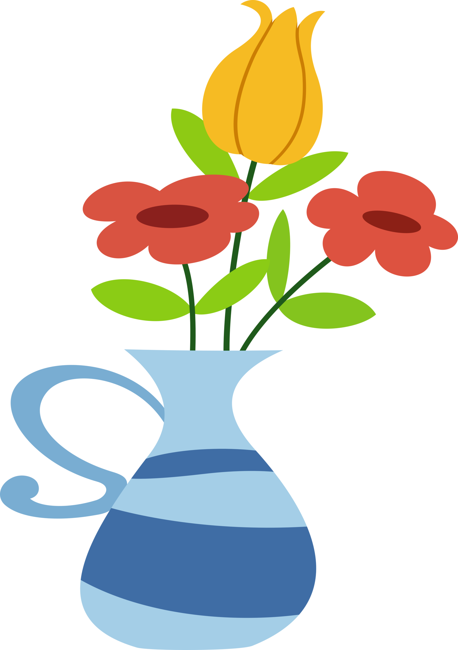 vase vector two flower